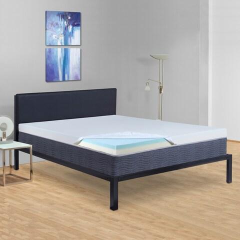 Sleeplanner 4-inch Queen-Size Two Layered Memory Foam Mattress Topper