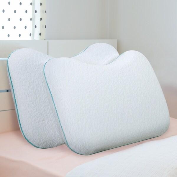Shop Sleeplanner Dual Sided Shoulder Memory Foam Pillow