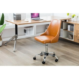 Porthos Home Office Chair With PU Leather Upholstery,Adjustable Height