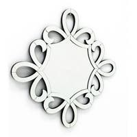 BELLE ECRITURE - Scripted Wall Mirror for Interior Design L 24 x W 24 by Fab Glass and Mirror