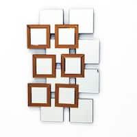 L'ARTISTE - Modern Mirror Wall Art Design L 37.5 x W 14 by Fab Glass and Mirror