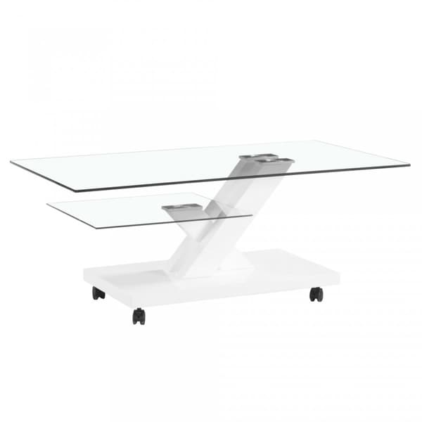 Shop Contemporary Two Tier Glass Coffee Table Design With High