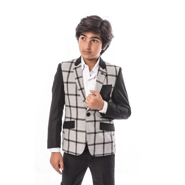 06a8a979b6ceb Shop Elie Balleh Brand Boy's Style Slim Fit Jacket/Blazer - Free ...