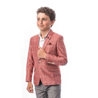 Elie Balleh Brand Boy's Style Slim Fit Jacket/Blazer (3 options available)