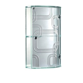 "STERLING CURIO - Glass Wall Cabinet 19"" X 11"" inches with Two Shelf by Fab Glass and Mirror"