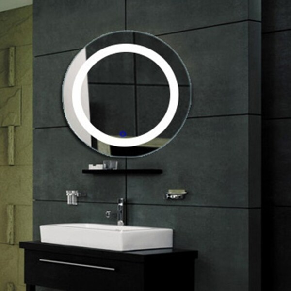 Shop The Euro Perfectly Round Wall Mounted Vanity Mirror With Led