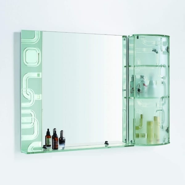 THE STARDUST - Bathroom Mirror Glass Cabinet for Jewelry & Cosmetics