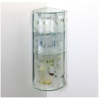 THE STERLING - Three Tier Curved Glass Corner Cabinet