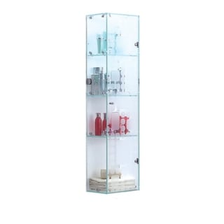 """MONT BLANC - Four Tier Glass Wall Cabinet 47 1/4"""" by 11 3/4"""" inches"""