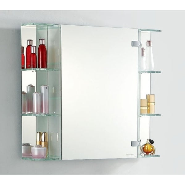 Superbe OPEN WAVE   Stylish Shaving Mirror Cabinet With LED Lighting And Side  Shelves By Fab Glass