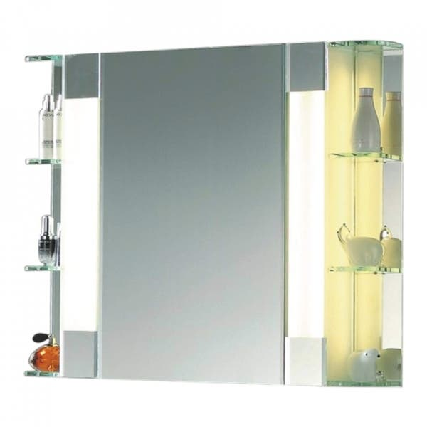 The Fairway Mid Century Bathroom Mirrored Cabinet With