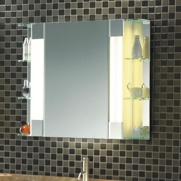 Shop The Fairway Mid Century Modern Bathroom Mirrored Cabinet With