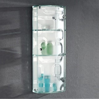 """THE DAVENPORT - Front Glass Wall Cabinet 29"""" X 11"""" inches with Three Shelf by Fab Glass and Mirror"""