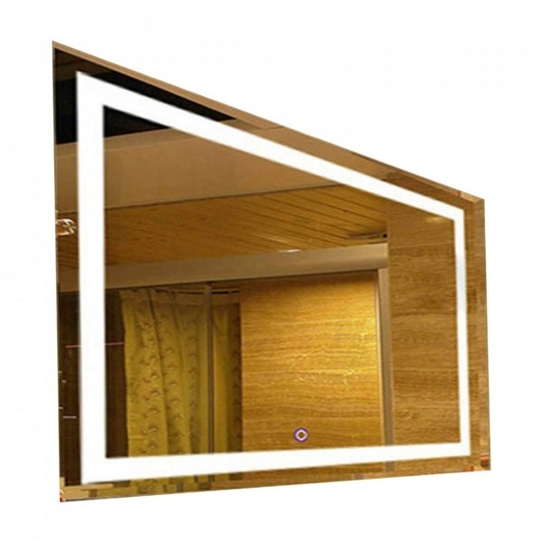 OPENING NIGHT - Large Rectangle Wall Vanity Mirror With LED Lighting