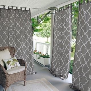 Elrene Corado Indoor/Outdoor Curtain Panel (50 w x 84 l - gray)