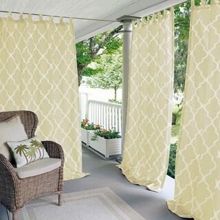 Elrene Corado Indoor/Outdoor Curtain Panel (50 w x 84 l - ivory)