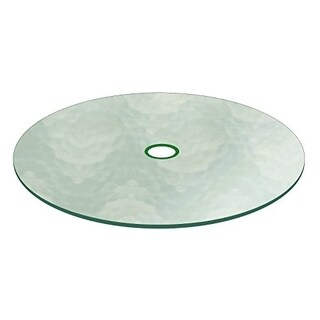 "Aquatex Patio Round Glass Table Top Flat Tempered W/ 2-1/4"" Hole (2 options available)"