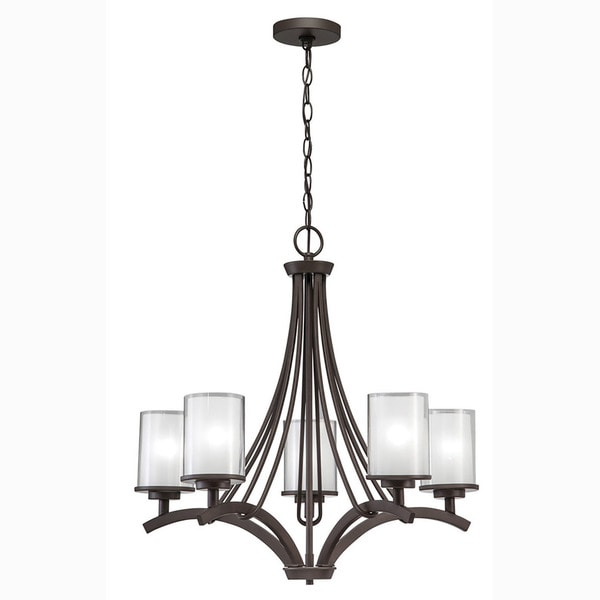 Aztec Lighting Transitional 5-light Olde Bronze Chandelier