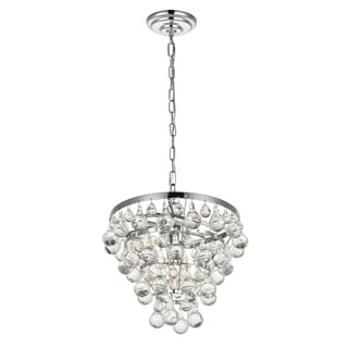 Kora Collection Chrome Iron and Crystal 3-light Pendant
