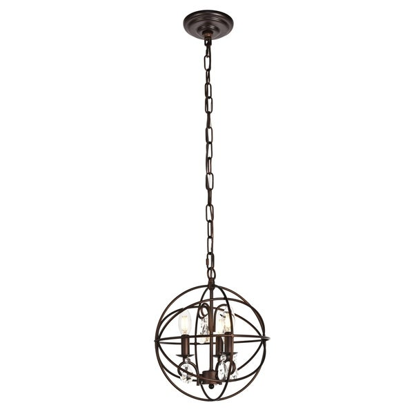 Wallace Collection Pendant D11.8 H13.8 Lt:3 Dark Copper Brown Finish