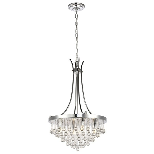 Kai Collection Pendant D17.7 H29.8 Lt:4 Chrome Finish