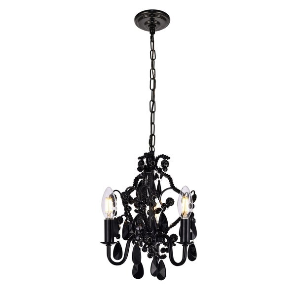 Karter Collection Pendant D9.5 H12.2 Lt:3 Polished Black Finish