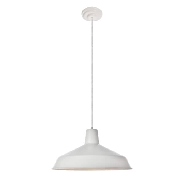 Penrose Collection Pendant D15.9 H8.8 Lt:1 Glossy White Finish