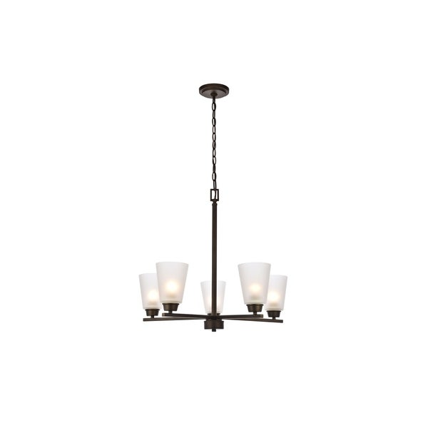 Biff Collection Chandelier D24 H22 Lt:5 Oil rubbed bronze Finish