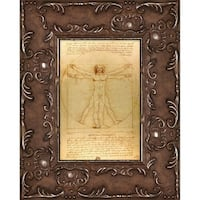Leonardo da Vinci 'Vitruvian Man' Pre-Framed Miniature Print on Canvas