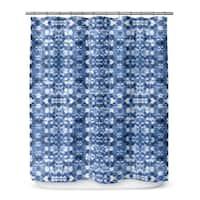 Kavka Designs Shibori Mirror Shower Curtain