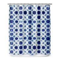Kavka Designs Shibori Circle Shower Curtain