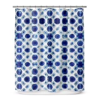 SHIBORI CIRCLE Shower Curtain By Becky Bailey