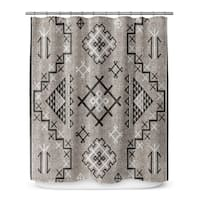 AZTEC BLACK Shower Curtain By Marina Gutierrez