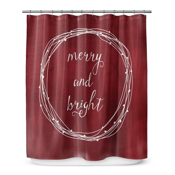 MERRY AND BRIGHT 2 Shower Curtain By Rosa Vila