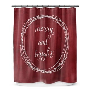 Kavka Designs Merry And Bright Shower Curtain