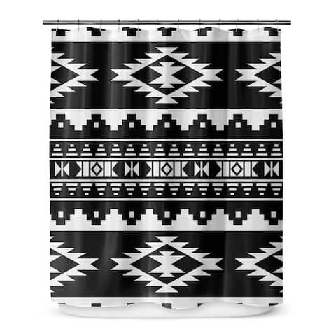 CHEROKEE BLACK Shower Curtain By Marina Gutierrez
