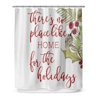 Kavka Designs No Place Like Home Shower Curtain