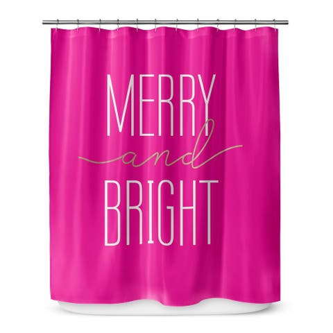 MERRY AND BRIGHT Shower Curtain By The Stylescape
