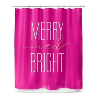 Pale Pink Shower Curtain. Kavka Designs Merry And Bright Pink Shower Curtain Curtains For Less  Overstock com Vibrant Fabric