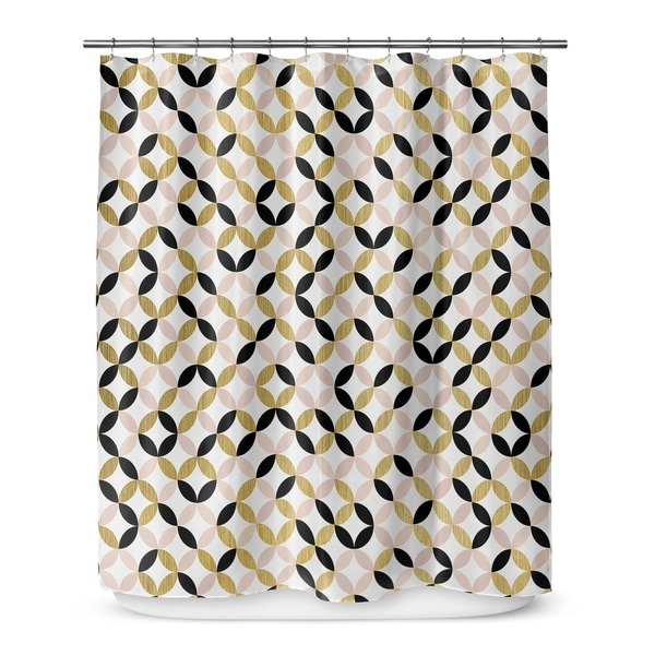 GOLD, BLACK ,PINK AND WHITE 2 Shower Curtain By Terri Ellis