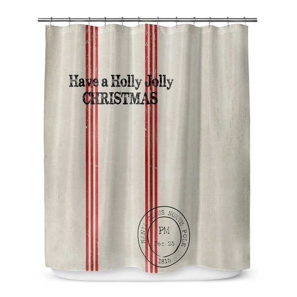 HOLLY JOLLY CHRISTMAS Shower Curtain By Terri Ellis