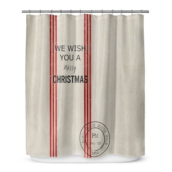 we wish you a merry christmas shower curtain by terri ellis
