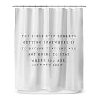 Kavka Designs The First Step Shower Curtain