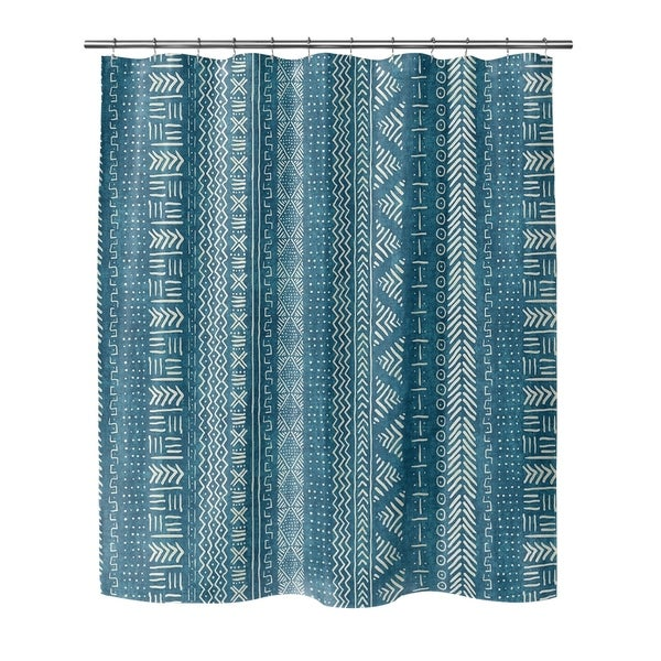 TEAL LANDSCAPE Shower Curtain By Becky Bailey