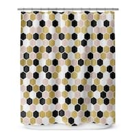 GOLD, BLACK ,PINK AND WHITE 3 Shower Curtain By Terri Ellis