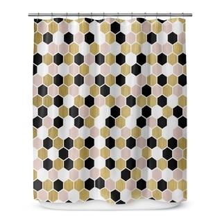 black white and gold shower curtain. kavka designs gold black pink and white ii shower curtain