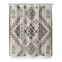 AZTEC BEIGE Shower Curtain By Marina Gutierrez