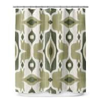 Kavka Designs Cosmos Green Shower Curtain