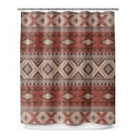 Kavka Designs Tribal Black Shower Curtain