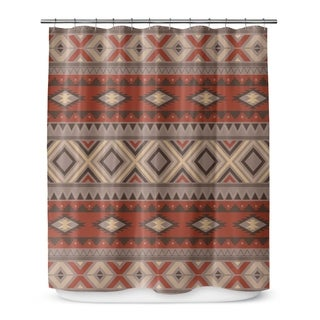 SEDONA BLACK Shower Curtain By Marina Gutierrez